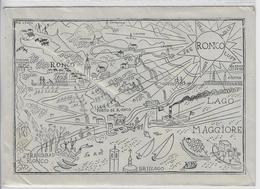 Ronco, Strandbad, Lago Maggiore, Porto - Werbeumschlag Couvert Von Ronco Sopra Ascona 28.X.55 - TI Tessin