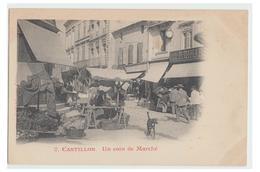 FRANCE -- GIRONDE-- CASTILLON LA BATAILLE -- UN COIN DU MARCHE-- CP NON CIRCULEE-- - Francia