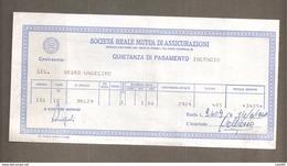 REALE MUTUA DI ASSICURAZIONI QUIETANZA DI PAGAMENTO INCENDIO 1966 - Banque & Assurance