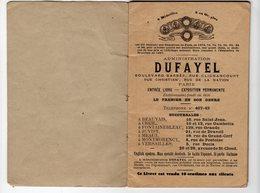 LIVRET DUFAYET (ouvert 1898) DES GRANDS MAGASINS  BOULEVARD BARBES    Timbres Quittances 10c  DEC 2017 Clas - France