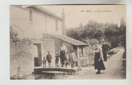 """CPA MER (Loir Et Cher) - Le Ru Et Le Lavoir + Cachet Franchise Militaire """"Hôpital ComplémentaireN°74"""" Sur 3 Lignes - Mer"""