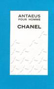 Cartes Parfumées Carte ANTAEUS POUR HOMME  De CHANEL - Modern (from 1961)
