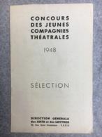 Concours Des Jeunes Compagnies Théâtrales 1948 Paris - Programmes