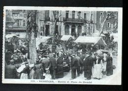 30, Besseges, Mairie Et Place Du Marche - Bessèges
