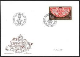 Liechtenstein: FDC, Mantello Dell'incoronazione Di Federico II, Mantle Of The Coronation Of Frederick II, Manteau Du Cou - Case Reali