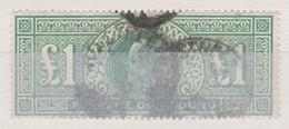 Roi Edouard VII 1902: 1 Livre Vert,  Filigrane 'couronne', Oblitéré - Oblitérés