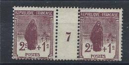 "France N°229** (MNH) 1926/27 - Orphelins ""paire Millésimes"" - France"
