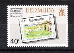 Bermude   -   1986. Cricket: Francobollo Su Francobollo. Stamp On Stamp. MNH - Cricket