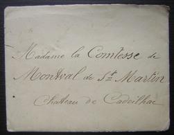 1905 Longue Lettre Pour La Comtesse De Montval De Saint Martin Au Château De Cadeilhac - Manoscritti