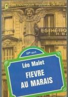 LEO MALET /  NESTOR BURMA FIEVRE AU MARAIS LES NOUVEAUX MYSTERES DE PARIS LIVRE DE POCHE CHAT HERISSE B13 - Leo Malet