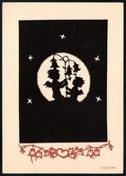 B4654 - Plischke Glückwunschkarte - Engel Angel - Scherenschnitt - Silhouettes