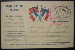 1916 2 Eme Compagnie Carte Postale En Franchise Militaire Pour Monsieur Sabathé à Fleurance (gers) - Postmark Collection (Covers)