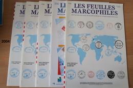Feuilles Marcophiles Année 2004 + Marcophilex - Magazines