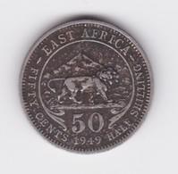 50 Cents (1/2 Shilling) 1949  TTB - British Colony