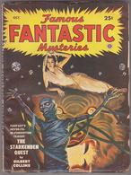 C1 FAMOUS FANTASTIC MYSTERIES 10 1949 SF Pulp LAWRENCE Gilbert Collins FINLAY BE - Science Fiction