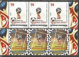 MK 2018-10 FIFA CUP RUSSIA-2018, MACEDONIA, 3 X 2v, MNH - Coupe Du Monde