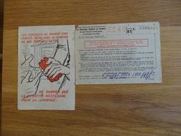 Caisse Nat Des Entrepreneurs Conges Payes 1950 - Cheques & Traveler's Cheques