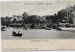 CPA Argentine Argentina Non Circulé Types Regates - Argentina