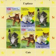 Tajikistan 2018 Domestic Cats Minisheet MNH - Hauskatzen