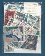 Année 1963 Compléte En Oblitéré  (cote 28€) Promo (vendu 10%) - 1960-1969