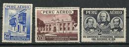 Perú. 1938. 8º Congreso Panamericano A Lima. Correo Aéreo - Perú