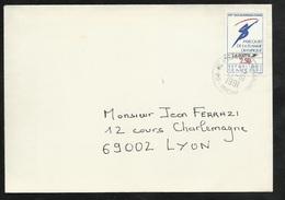 Lettre Circulée Avant Le Premier Jour D'emission Du Timbre Saint Pierre De Chandieu 21/10/1991 (Premier Jour 14/11/1991) - Abarten Und Kuriositäten