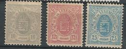 LUXEMBURGO.-YV Nº 42a 43a 45a - 1859-1880 Stemmi