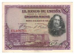 Spain 50 Pesetas 1928, Madrid, XF. - [ 1] …-1931: Erste Ausgaben (Banco De España)