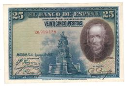 Spain 25 Pesetas 1928, Madrid, VF/XF. - [ 1] …-1931: Erste Ausgaben (Banco De España)