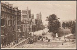 College Green And Cathedral, Bristol, 1929 - Milton Postcard - Bristol