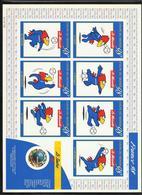 Feuillet Souvenir Autocollants Coupe Du Monde De Football France 1998 Le N° 3140 Et Les 7 Vignettes FOOTIX  TB   Soldé ! - Blocs & Feuillets