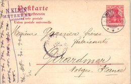 68 METZERAL - N. Klein  - Oblitération (entiers Postaux ) - France