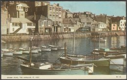Wharf Road, The Harbour, St Ives, Cornwall, 1962 - Jarrold Postcard - St.Ives