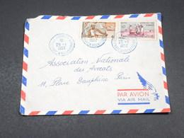 COTES DES SOMALIS - Enveloppe De Djibouti Pour Paris En 1952 - L 19119 - Côte Française Des Somalis (1894-1967)