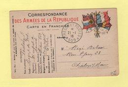 Armee D Orient - Tresor Et Poste 509 - Carte FM - Oorlog 1914-18
