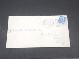 FRANCE - Oblitération Poste Aux Armées Sur Enveloppe Avec Contenu Pour Caen En 1955 - L 19128 - Marcophilie (Lettres)