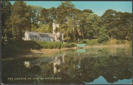 The Church, St Just-in-Roseland, Cornwall, C.1970 - Salmon Postcard - England