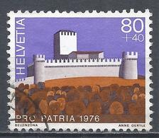 Switzerland 1976. Scott #B442 (U) Castle, Bellinzonna * - Pro Patria