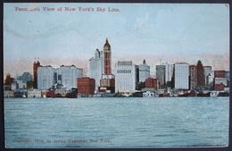 NEW YORK Manhatten Sky Line Gel. 1912 N. Teufen Switzerland - Manhattan
