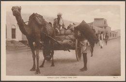 Loading Camels And Cart, Maala, Aden, C.1920 - Lehem RP Postcard - Yemen