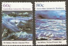 Australian Antarctic Territories  1989  SG 86-7 Sir Sydney Nolan Fine Used - Australian Antarctic Territory (AAT)