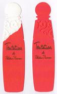 Cartes Parfumées  Carte PALOMA PICASSO  TENTATIONS   RÉPLIQUE FLACON ROUGE Et BLANC RECTO VERSO - Modern (from 1961)