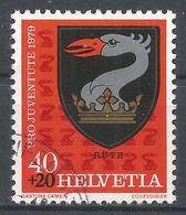 Switzerland 1979. Scott #B468 (U) Arms Of Rute * - Pro Juventute