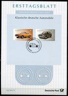 "Germany,Bund 2017 ETB 13 /2017 Mi.Nr.3297/98 ""Klasische Autos-Opel Manta A U.VW Golf Serie 1 ""1 Big ETB - [7] Repubblica Federale"