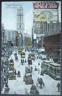 NEW YORK Upper Broadway The Rise Electric Oldtimer Auto Tramway Gel. 1913 N. Teufen Switzerland - Broadway