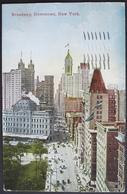NEW YORK Broadway Downtown Gel. 1913 N. Teufen Switzerland - Broadway
