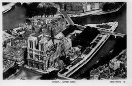CPA PARIS - NOTRE DAME - AERO-PHOTO - Notre Dame De Paris