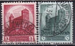 Deutsche Reich, 1934 - Svastika Sun - Usato°  Nr.442/443 - Allemagne