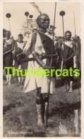CPA KENIA KENYA RPPC REAL PHOTO POSTCARD KIKUYU WARRIOR - Kenya
