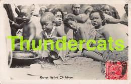 CPA KENIA KENYA RPPC REAL PHOTO POSTCARD KENYA NATIVE CHILDREN - Kenya